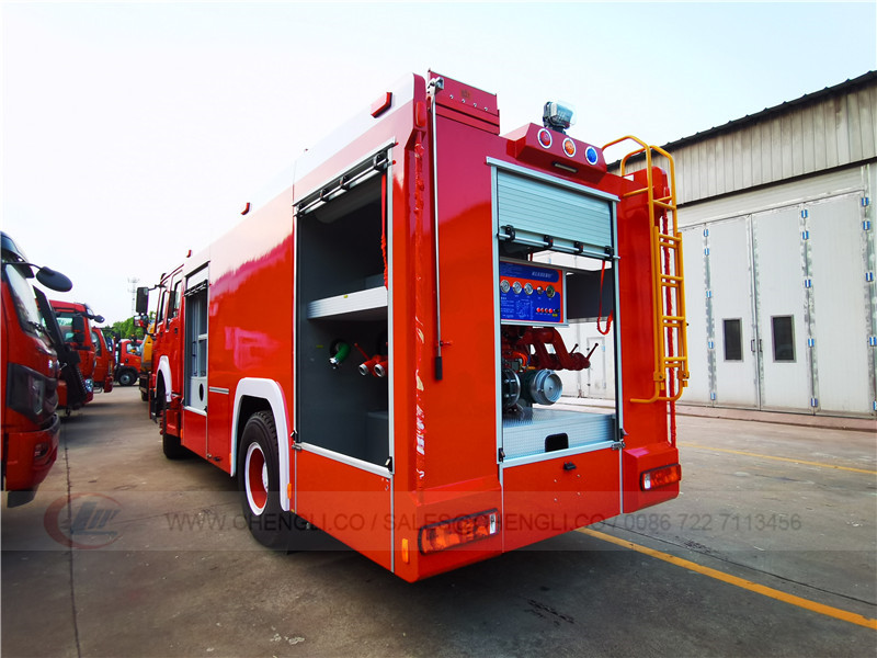 Howo fire fighting truck to Busia-Kenya
