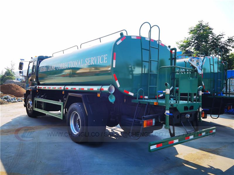 Isuzu FVR water truck to Sierra leone